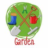 Vector el ejemplo aislado en fondo, agricultura y horticultura verdes Puede ser utilizado como icono Imagenes de archivo