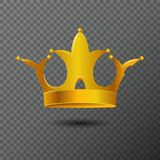 Vector el ejemplo con el icono de oro de la corona en fondo Diadema de los derechos del volumen creada por pendiente Imagen de archivo libre de regalías