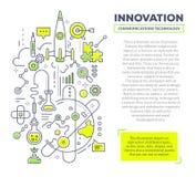 Vector el ejemplo creativo del concepto de la innovación con el jefe a Imagen de archivo