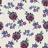 Vector el ejemplo de flores y de hojas coloridas abstractas en pastel ligero Imagen de archivo libre de regalías