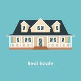 Vector el ejemplo de la casa del color y de las propiedades inmobiliarias libre illustration