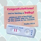 Vector el ejemplo de la enhorabuena del papá con el inicio del embarazo Foto de archivo