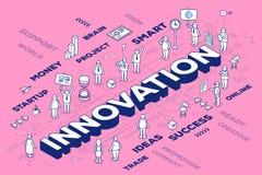 Vector el ejemplo de la innovación tridimensional de la palabra con el PE Fotografía de archivo