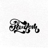 Vector el ejemplo de la libertad con la inscripción para embalar Fotos de archivo