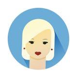 Vector el ejemplo de la muchacha con estilo de pelo lindo Fotografía de archivo libre de regalías