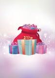 Vector el ejemplo de la Navidad - fondo, aviador o invitación mágico Imagenes de archivo