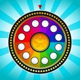 Rueda de la fortuna colorida Fotos de archivo libres de regalías