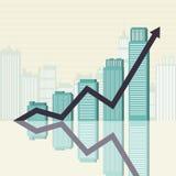 El éxito empresarial se eleva gráfico Fotografía de archivo