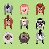 Vector el ejemplo de los animales del campo y de los artículos relacionados Imagen de archivo libre de regalías