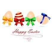 Vector el ejemplo de los huevos de Pascua con los arcos coloridos Fotografía de archivo