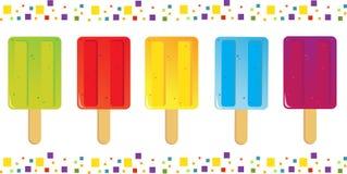 Iconos de los Popsicles Imagen de archivo