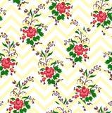 Vector el ejemplo de los ramos abstractos de la flor encima de movimientos amarillos Imagen de archivo libre de regalías