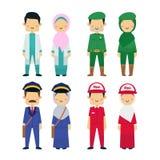 Vector el ejemplo de los trabajadores de la diversidad con el fondo blanco stock de ilustración