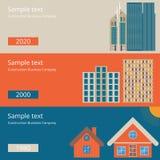 Vector el ejemplo de un diseño plano de la casa stock de ilustración