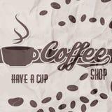 Vector el ejemplo de un folleto retro de la cafetería del vintage Imagen de archivo libre de regalías