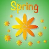 Vector el ejemplo de un fondo de la primavera con las flores stock de ilustración