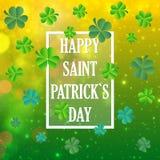 Vector el ejemplo de un fondo del día del ` s de St Patrick Fotografía de archivo libre de regalías
