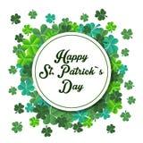 Vector el ejemplo de un fondo del día del ` s de St Patrick Fotos de archivo