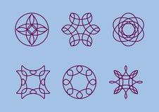 Vector el ejemplo de un monograma en un fondo azul Stock de ilustración