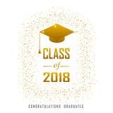 Vector el ejemplo de un oro de los gráficos del curso de graduación en 2018 ilustración del vector