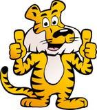 Vector el ejemplo de un tigre siberiano feliz y orgulloso Foto de archivo libre de regalías