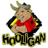 Vector el ejemplo de un toro-gamberro fuerte con el bíceps grande stock de ilustración
