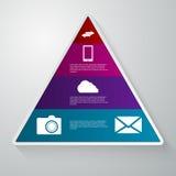 Vector el ejemplo de un triángulo con los sectores Libre Illustration