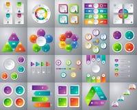 Vector el ejemplo de una colección mega de infographic colorido Imagenes de archivo