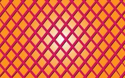 Vector el ejemplo de una imagen de fondo del las líneas rosadas entrecruzadas en un fondo anaranjado de la pendiente Fotos de archivo