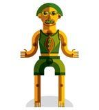 Vector el ejemplo del avatar modernista extraño, tema del cubismo libre illustration
