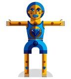 Vector el ejemplo del avatar modernista extraño, tema del cubismo ilustración del vector