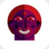Vector el ejemplo del avatar modernista extraño, tema del cubismo stock de ilustración