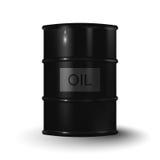 Vector el ejemplo del barril de aceite negro del metal en el backgroun blanco Fotos de archivo libres de regalías
