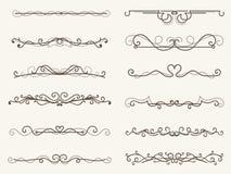 Vector el ejemplo del bastidor y de la línea de la esquina decorativos sistema ilustración del vector