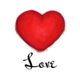 Vector el ejemplo del corazón del día del ` s de la tarjeta del día de San Valentín en estilo del marcador del bosquejo Imágenes de archivo libres de regalías