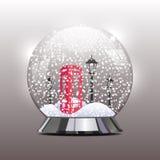 Vector el ejemplo del globo de la nieve con un rojo Imágenes de archivo libres de regalías