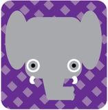 Vector el ejemplo del icono del animal lindo, elefante Imágenes de archivo libres de regalías