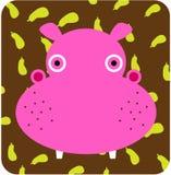 Vector el ejemplo del icono del animal lindo, hipopótamo Imagen de archivo