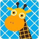 Vector el ejemplo del icono del animal lindo, jirafa Imagenes de archivo