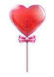 Lollipop del corazón Foto de archivo