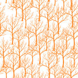 Vector el ejemplo del modelo abstracto inconsútil del árbol anaranjado Fotografía de archivo libre de regalías