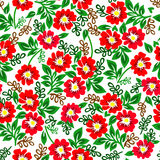 Vector el ejemplo del modelo colorido con las flores rojas en un fondo blanco Foto de archivo