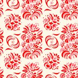 Vector el ejemplo del modelo inconsútil de las flores abstractas del rojo Imágenes de archivo libres de regalías