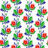 Vector el ejemplo del modelo inconsútil de las flores coloridas abstractas Fotos de archivo libres de regalías