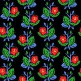Vector el ejemplo del modelo inconsútil de las flores coloridas planas abstractas Imagen de archivo