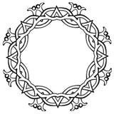 Vector el ejemplo del negro céltico del marco del círculo del nudo libre illustration
