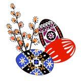 Vector el ejemplo del ornamento colorido del wint de los huevos de Pascua Foto de archivo libre de regalías
