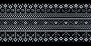 Vector el ejemplo del ornamento inconsútil popular ucraniano del modelo Ornamento étnico Elemento de la frontera Ucraniano tradic ilustración del vector