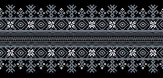 Vector el ejemplo del ornamento inconsútil popular ucraniano del modelo Ornamento étnico Elemento de la frontera Ucraniano tradic stock de ilustración