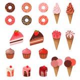 Vector el ejemplo del postre de los dulces aislado en el fondo blanco ilustración del vector